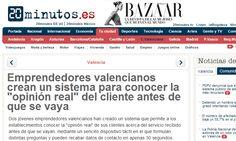 """Emprendedores valencianos crean un sistema para conocer la """"opinión real"""" del cliente antes de que se vaya  http://www.20minutos.es/noticia/2221279/0/emprendedores-valencianos-crean-sistema-para-conocer-opinion-real-cliente-antes-que-se-vaya/"""