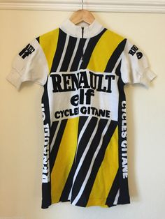 Vintage Renault Elf Cycling Jersey Perfect For L'Eroica 1970s   eBay