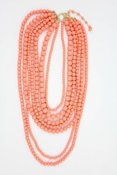 Layered Coral Necklace - more coral peach tangerine salmon and orange here: http://mylusciouslife.com/colour-me-coral/