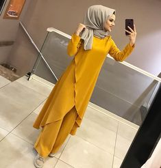 Image may contain: 1 person, standing - Hijab Clothing Modern Hijab Fashion, Street Hijab Fashion, Islamic Fashion, Abaya Fashion, Muslim Fashion, Modest Fashion, Fashion Dresses, Abaya Style, Hijab Style Dress