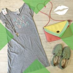 The dress of this season is the ever so comfortable and fashionable t-shirt dress! We love t-shirt dresses becuase they are great for those lazy days at home watching netflix running errands or going out with friends.& luckily for you our location in Lincoln Park has a ton for under $12! Look comfy but don't break the bank…