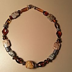 Natural Gemstone The Amber Agate Necklace by MidMoonLadyDesigns, $45.00