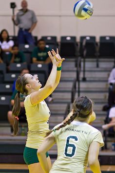 The volleyball setter position is one of leadership and responsibility.    When a team is on serve receive the setter is responsible for running  the offense which requires him or her to inform each of their possible  hitters what set they are going to give them.