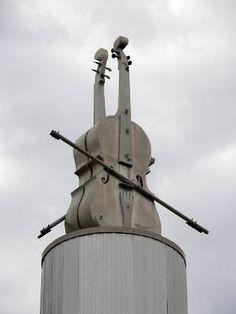 Bob Wills Fiddle Monument, Turkey, TX