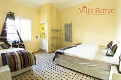 Villa Surya Room Ayour triple room ensuite bathroom Yoga holidays Morocco - travel with budget