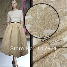 39,98$ Free Shipping Three-dimensional Embroidery Silk Spring Summe Dress Material Nude Color Lace Clothes Diy Fabric Wholesale/Retail