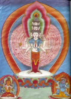 Avalokiteshvara, or Chenrezig is a bodhisattva, and the cherished patron of Tibet. A bodhisattva (byang chub sempai) is an enlightened being that chooses to remain in cyclic existence to benefit all beings. The term bodhisattva denotes great compassion but Avalokiteshvara is the Bodhisattva of Inconceivable Compassion.