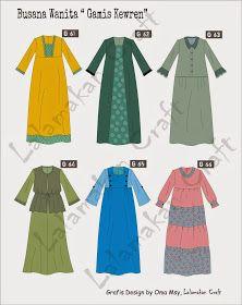 Creativity Tutorial: Pesan Pola Busana Muslim Fashion, Hijab Fashion, Abaya Designs, Muslim Dress, Fashion Design Drawings, Daily Dress, Islamic Clothing, Dress Picture, Fashion Sewing