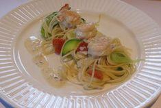 Groenten-spaghetti met scampi   Kris Kookt