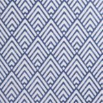 'Hadley' blue geometric wallpaper, available from B&Q