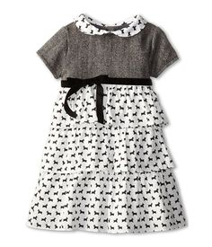 Elephantito Tiered Wool Dress (Toddler/Little Kids)