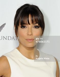 News Photo: Actress Eva Longoria attends The Lourdes Foundation Leadership…love her bangs!