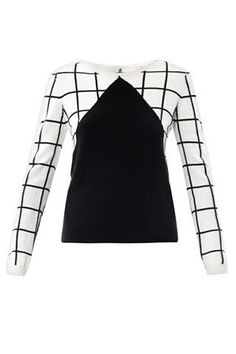 Chinti and Parker Meets Patternity Window-Pane Check Sweater