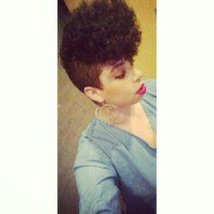 Shaved Sides, Natural Hair