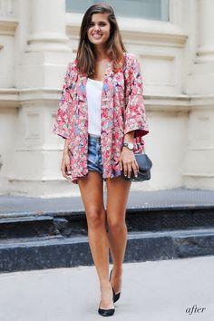 Vintage kimono outfit www.apairandasparediy.com