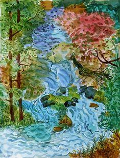 Aquarell von Andres Kreienbuehl, 2002 Flowers, Painting, Art, Watercolor Painting, Fantasy, Art Background, Painting Art, Kunst, Paintings