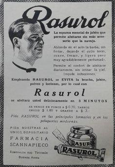 """""""Rasurol"""" deja la cara fresca, suave y perfumada. Se esparce una pequeña cantidad con los dedos sobre la barba bien mojada y así consigue ablandarla."""