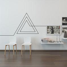 Décalque de mur de salle de séjour : Endless géométrique Triangle