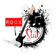"""""""Rock Star #2 logo contest 🎸"""" by marinade11 ❤ liked on Polyvore featuring art"""