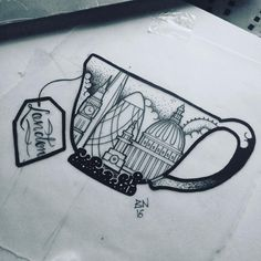 """284 Likes, 17 Comments - Barbara Nobody (@barbaranobody) on Instagram: """"And more London related designs :) this is part of my flash book which means it can be tattooed…"""""""