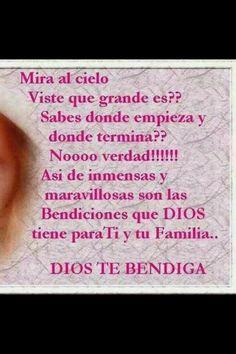 Dios te bendiga!