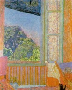 Great paintings by Pierre Bonnard. Bonnard was a french painter and printmaker, as well as one of the foundin. Pierre Bonnard, Great Paintings, Open Window, Window Art, Paul Gauguin, Art For Art Sake, Cat Art, Land Scape, Painting Inspiration