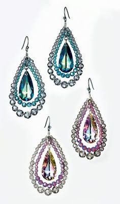 Fabulousity: Last Minute DIY Christmas Gifts. Crystal Earrings.
