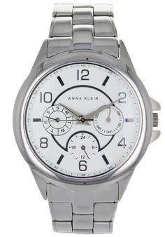 Anne Klein Women's White Dial Two Tone Stainless Steel Stainless Steel Bracelet, Stainless Steel Case, Anne Klein Watch, Casio Watch, Lady, Gold Watch, Bracelet Watch, Quartz, Mineral Water