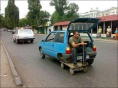 Ridiculous Spare Tire Solution - SunnyLOL. Funny pictures, Epic fails