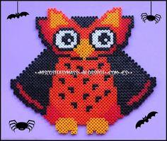 Halloween owl hama perler beads- 1 bead = 1 Cross Stitch!!