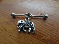 Industrial Barbell Silver Elephant Industrial by ChelseaJewels, $12.00