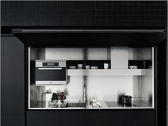 compact hidden kitchen in cupboards - kitchen design ideas