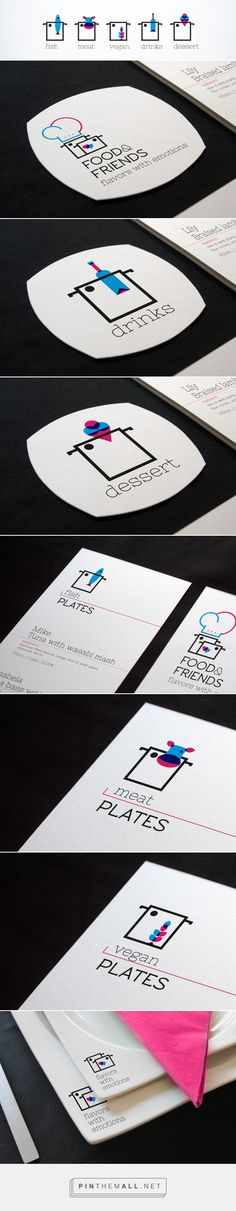 Food&Friends branding. Objective develop a new way to friends, going out to a restaurant without the people that make the surrounding impersonal and decharacterized. A new brand that has given a very special taste do develop. By Alexandre Vicente.