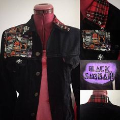 A Black Sabbath custom jacket I made for a 10 year old! Drop me a message via the Etsy store or website if you want something like this!