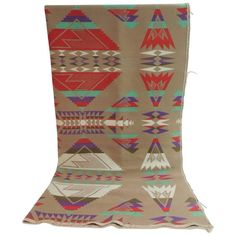 Large Vintage Pendleton Wool Blanket Navajo Style | From a unique collection of antique and modern textiles at https://www.1stdibs.com/furniture/more-furniture-collectibles/textiles/