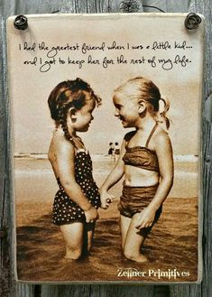 "108 Sister Quotes And Funny Sayings With Images ""Little sisters remind big sisters how wonderful it is to play in the sand. Big sisters show little sisters Lifelong Friends, Great Friends, Friends Like Sisters, Old Friends, Sister Quotes Funny, Funny Quotes, Top Quotes, Sister Poems, Heart Quotes"