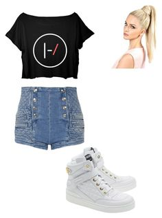 """School :)"" by alejandra-martinez-738 on Polyvore featuring Pierre Balmain, Moschino, women's clothing, women, female, woman, misses and juniors"