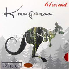 61 deuxième kangourou Pips-en Tennis De Table En Caoutchouc avec Éponge blanc