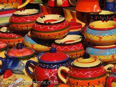 Colorful Ceramic Pottery in Palma de Mallorca