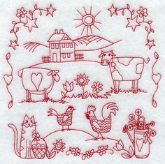 Country Sampler (Redwork)