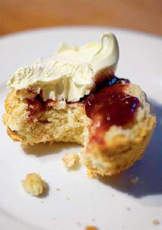Scones with farmstyle strawberry jam and cream - a family tea time favourite