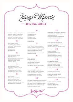 Hello! Prints Blog | Table Plan – tablica usadzenia gości | http://www.helloprints.com.pl/blog