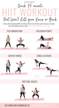 Low Impact HIIT Workout to Burn Fat without Hurting your Knee