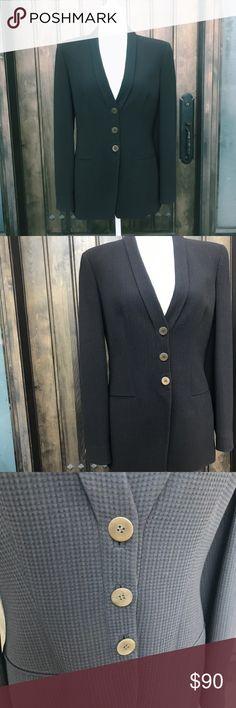 "Giorgio Armani Blazer Giorgio Armani blazer. Made in Italy. European size 42, equivalent to a US size medium. In EUC. Pit to pit (bust) 18"". Length 27"".  ::165 Giorgio Armani Jackets & Coats Blazers"
