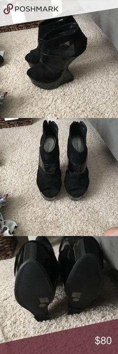 Black heels Never worn black Chinese Laundry heels Chinese Laundry Shoes Platforms