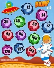 Multiplication Games - Bump - Two Times Table to Twelve Times Table - 11 Game Boards. Game Boards, Board Games, Math For Kids, Games For Kids, Relief Teacher, Multiplication Games, Times Tables, Classroom Organisation, Study Skills
