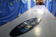 Create a special surfboard using the name of your church! cokesburyvbs.com