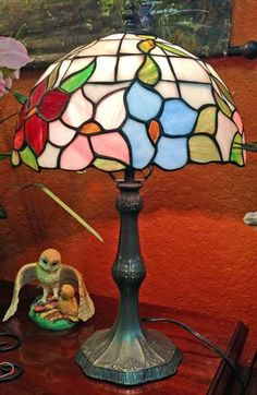Signed Dale Tiffany lamp.
