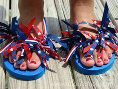 Ribbon Flip Flops Craft