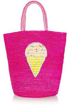 Embellished woven toquilla straw tote #bag #women #covetme #sensistudio